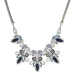 Butterfly by Matthew Williamson - Designer Blue stone cluster glitter statement necklace