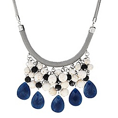 Butterfly by Matthew Williamson - Designer blue peardrop cord charm necklace