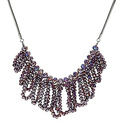 Butterfly by Matthew Williamson - Designer Purple bead loop necklace