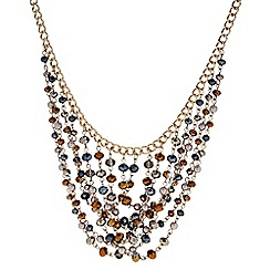 Butterfly by Matthew Williamson - Designer Bronze beaded multi row necklace