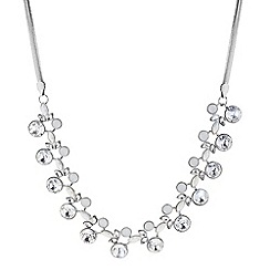 Butterfly by Matthew Williamson - Designer silver crystal circle necklace