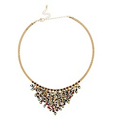 Butterfly by Matthew Williamson - Designer gold beaded torque necklace