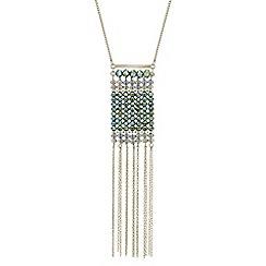 Butterfly by Matthew Williamson - Designer beaded tassel drop necklace