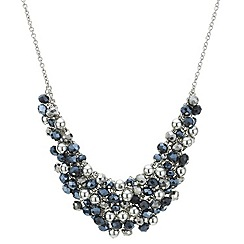 Butterfly by Matthew Williamson - Designer navy bead shaker necklace