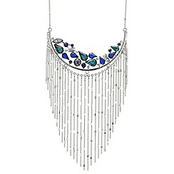 Butterfly by Matthew Williamson - Designer mixed stone curve tassel drop necklace