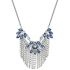 Butterfly by Matthew Williamson - Designer blue crystal diamante chain necklace