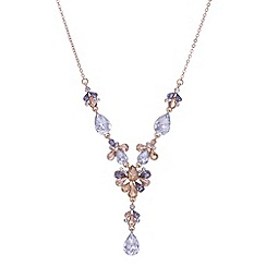 Butterfly by Matthew Williamson - Designer rose gold crystal floral y necklace