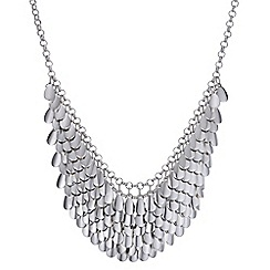 Butterfly by Matthew Williamson - Designer silver textured drop necklace