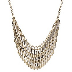 Butterfly by Matthew Williamson - Designer gold textured drop necklace
