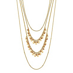 Butterfly by Matthew Williamson - Designer gold multi layered necklace