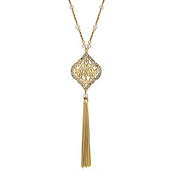 Butterfly by Matthew Williamson - Designer gold filigree tassel necklace