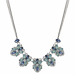 Butterfly by Matthew Williamson - Designer tonal blue floral necklace