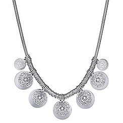Butterfly by Matthew Williamson - Designer filigree disc layered necklace