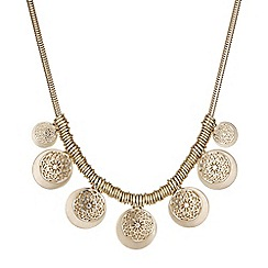 Butterfly by Matthew Williamson - Designer gold filigree disc necklace
