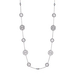 Butterfly by Matthew Williamson - Designer silver filigree rope necklace