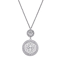 Butterfly by Matthew Williamson - Designer silver filigree disc necklace
