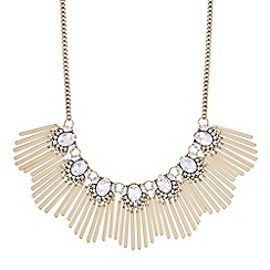 Butterfly by Matthew Williamson - Designer gold crystal stick necklace