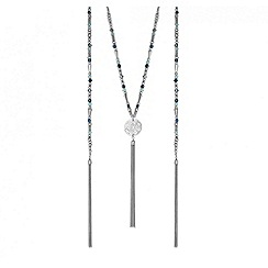Butterfly by Matthew Williamson - Designer coin tassel beaded necklace