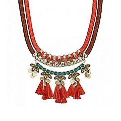 Butterfly by Matthew Williamson - Fringed statement necklace