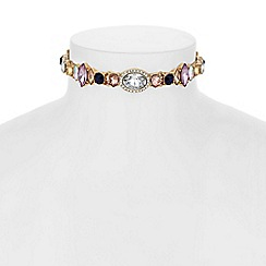 Butterfly by Matthew Williamson - Designer crystal cluster choker necklace