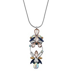 Butterfly by Matthew Williamson - Designer crystal open hoop necklace