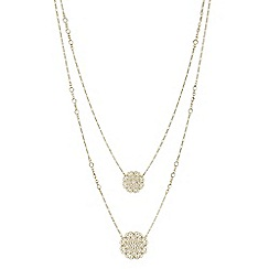 Butterfly by Matthew Williamson - Designer filigree double layer necklace