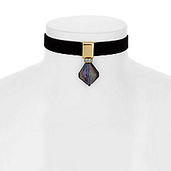 Butterfly by Matthew Williamson - Designer bead drop choker necklace