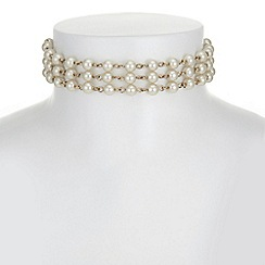 Butterfly by Matthew Williamson - Designer pearl and leaf choker necklace