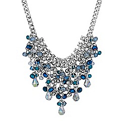 Butterfly by Matthew Williamson - Designer blue bead shaker necklace