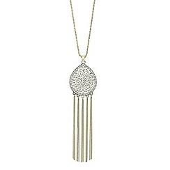 Butterfly by Matthew Williamson - Designer filigree teardrop tassel necklace