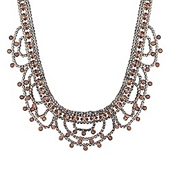 Butterfly by Matthew Williamson - Designer crystal looped choker necklace