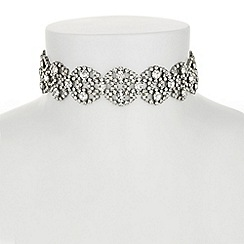 Butterfly by Matthew Williamson - Designer crystal scallop choker necklace
