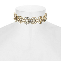 Butterfly by Matthew Williamson - Designer ornate crystal choker necklace
