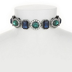 Butterfly by Matthew Williamson - Designer pave facet stone choker necklace