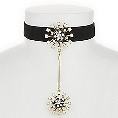 Butterfly by Matthew Williamson - Designer crystal starburst choker necklace