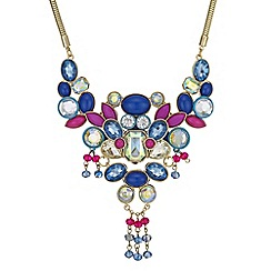 Butterfly by Matthew Williamson - Crystal layered necklace