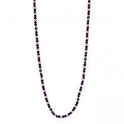 Butterfly by Matthew Williamson - Designer long purple beaded rope necklace