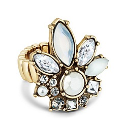 Butterfly by Matthew Williamson - Designer pearl and stone set stretch ring