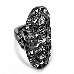 Butterfly by Matthew Williamson - Designer large oval filigree stretch ring