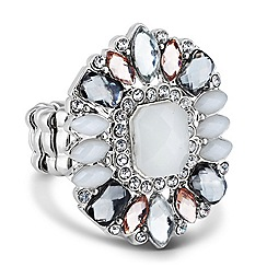 Butterfly by Matthew Williamson - Designer opalesque stone stretch ring