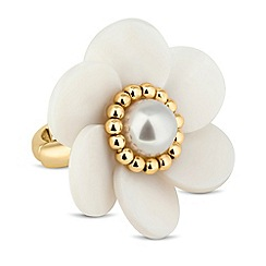 Butterfly by Matthew Williamson - Designer pearl flower adjustable ring