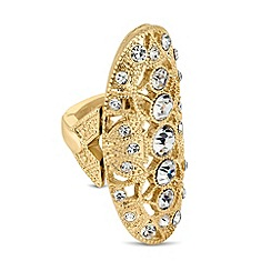 Butterfly by Matthew Williamson - Designer crystal set filigree stretch ring