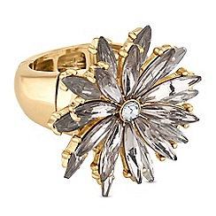 Butterfly by Matthew Williamson - Designer crystal flower ring