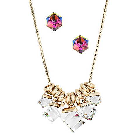 Butterfly by Matthew Williamson - Designer prism cube necklace and earring set