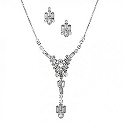 Butterfly by Matthew Williamson - Designer baguette y drop necklace and earring set