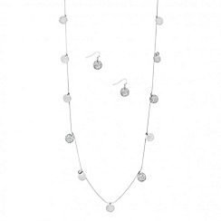 Butterfly by Matthew Williamson - Designer crystal and textured disc necklace and earring set