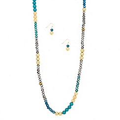 Butterfly by Matthew Williamson - Designer beaded rope necklace and earring set