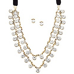 Butterfly by Matthew Williamson - Designer round crystal double row jewellery set