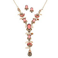 Butterfly by Matthew Williamson - Designer pink tonal stone drop jewellery set