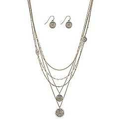 Butterfly by Matthew Williamson - Designer filigree coin multirow jewellery set
